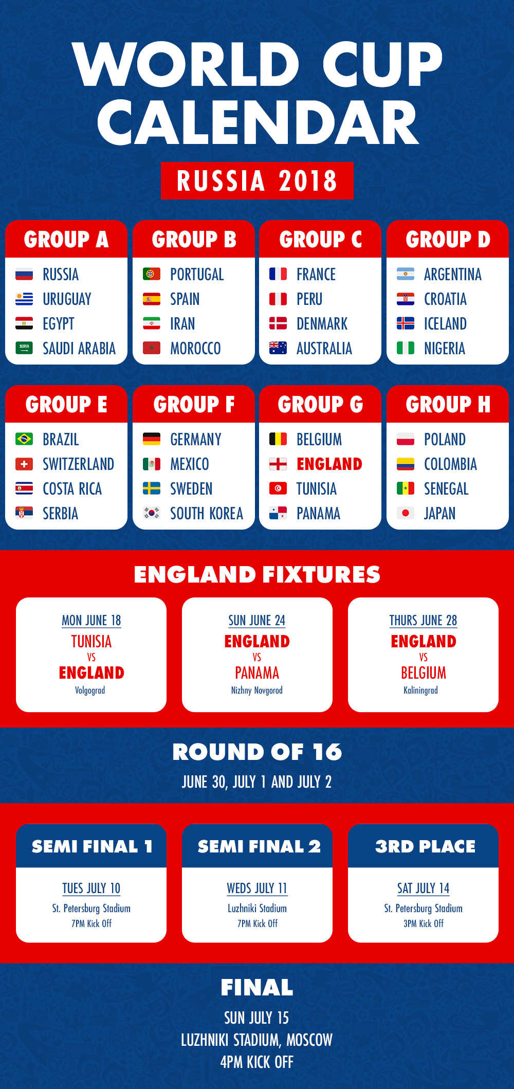 World Calendar.World Cup Calendar Kings Will Dream Blog