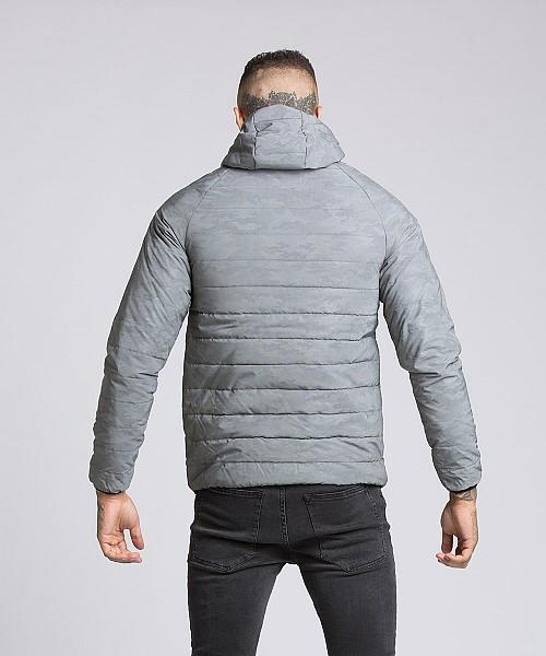 f16fc25b856ed Elthorne Camo Reflective Puffer Jacket | Grey | KWD