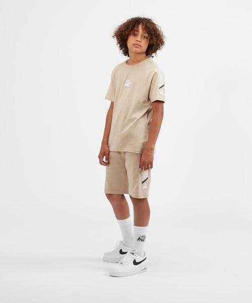Kings Will Dream KWD Kids Junior Crew Neck Boys T Shirt Black Iris Grey Meslon