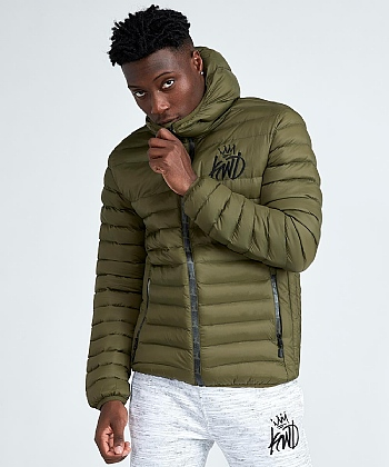 Ebley Camo Zip Puffer Jacket