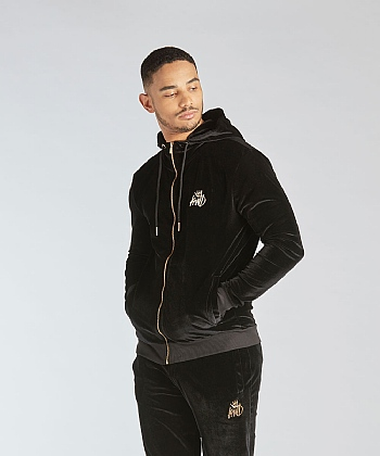 Alvarado Full Zip Velour Hooded Top