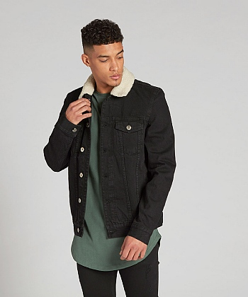 Honesdale Borg Collar Denim Jacket