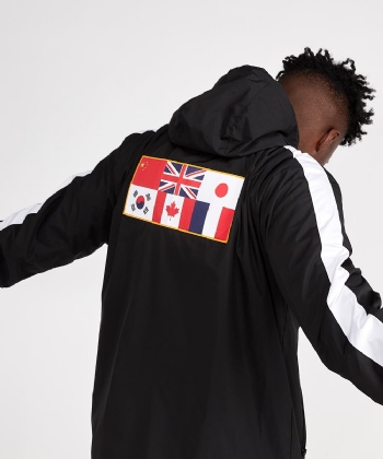 Meeks Contrast Panel Windbreaker