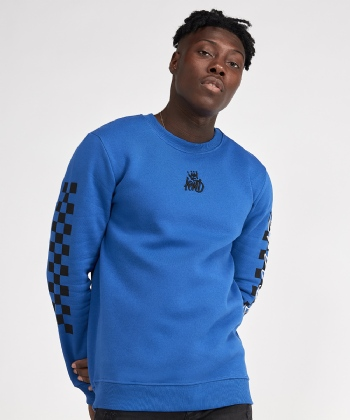 Kessler Check Embroidered Sleeve Sweatshirt