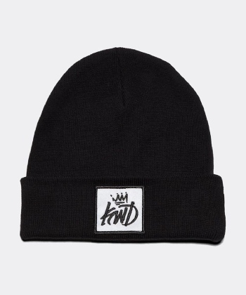 Junior Reflective Patch Beanie Hat