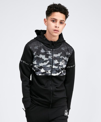 Junior Camowell Full Zip Hooded Top