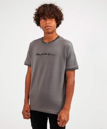 Junior Miami Logo Bind T-Shirt